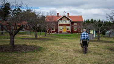 Paret Lundaahl har byggt och inrett en luftig och naturnära yogastudio