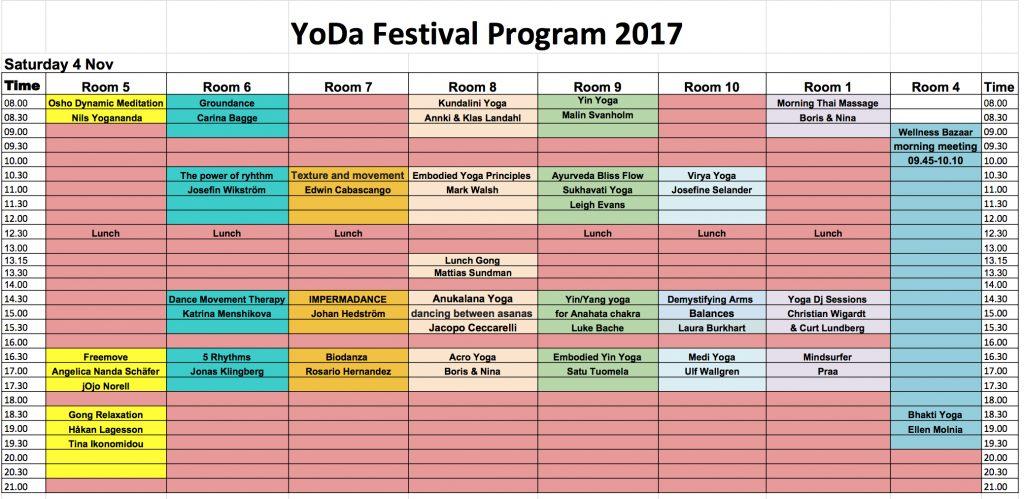 Yoda program lördag