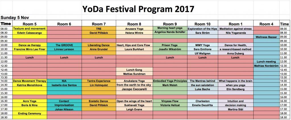 Yoda program söndag