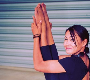 """""""I Thailand utövar vi en mer fysisk yoga"""""""