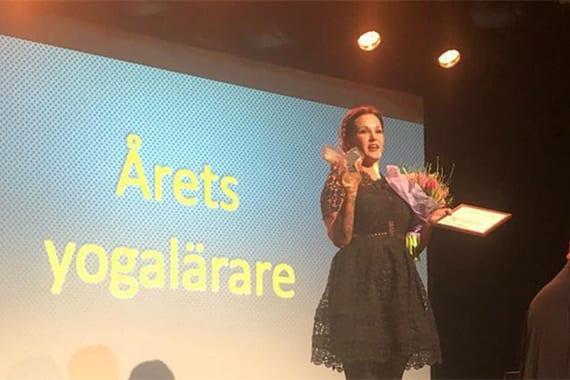 Lina Eggen fick ta emot utmärkelsen