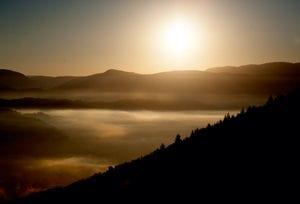 Tidig morgon, solpyramidens nordsida.