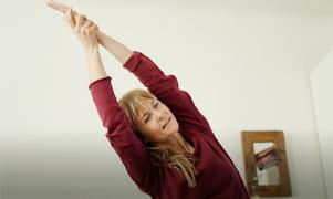 yogapaus från kontorsarbetet
